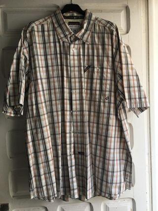 camisa manga corta hombre talla grande xxxl