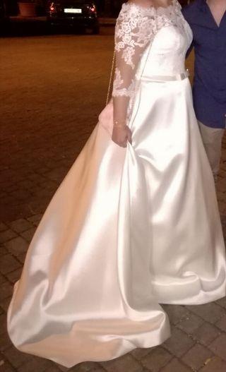 vestido TALLA GRANDE la sposa + regalo velo rosa