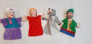 Marionetas caperuzita roja.