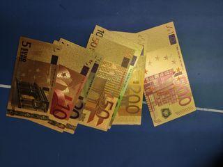 lote billetes ORO bañados de euro conmemorativos