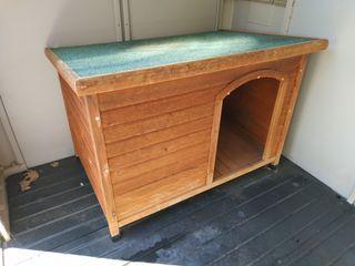 Caseta madera perro exteriores
