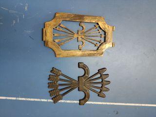 2 placas FALANGE franco yugo y flechas