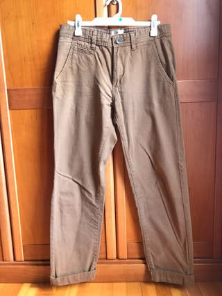 Pantalon chino easy wear talla 38 marron