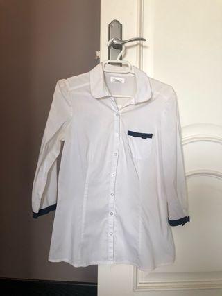 Camisa blanca Stradivarius talla s