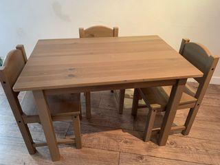 Conjunto mesa y 3 sillas Ikea modelo Sundvik
