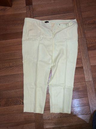 Pantalones chinos Cortefiel Amarillos