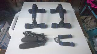 Pack Soportes para Flexiones Comba Fortalecedor