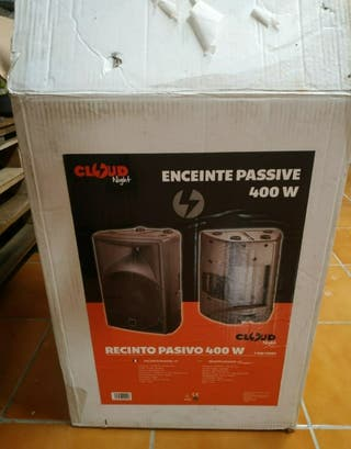 pack 2 altavoces pasivos 400 W y amplificador etap