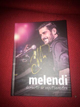 Libreto+2 discos+ Dvd de Melendi firmado