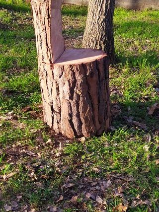 6 sillas rusticas de madera de pino