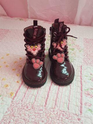 botas pantera rosa