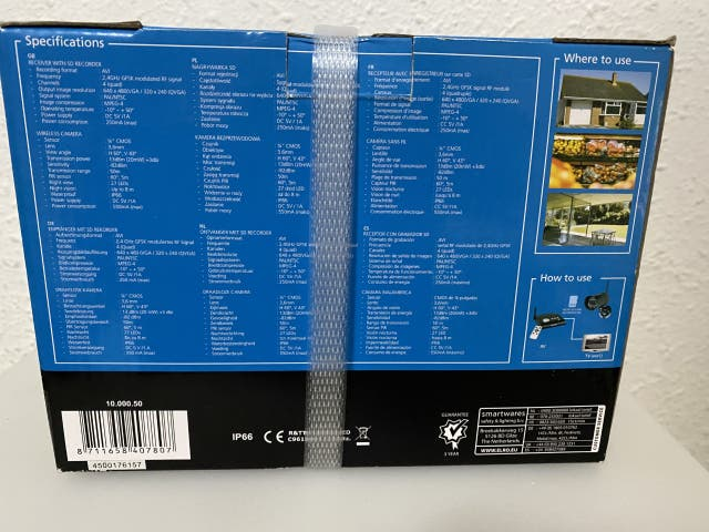 Camara de seguridad ip66