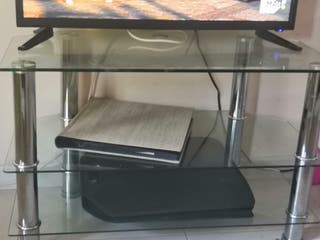 mesa cristal tv