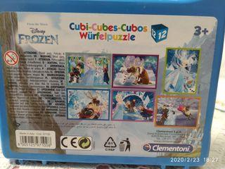 puzzle cubos frozen