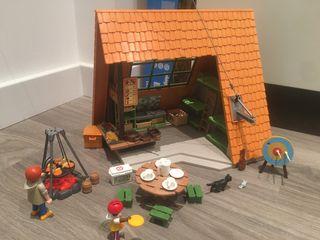 Playmobil campamento de verano-cabaña