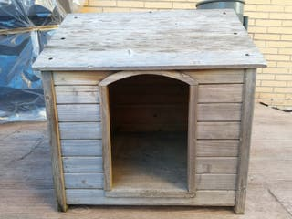 caseta madera perro