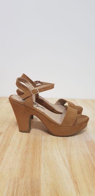 Zapatos Marrones de Tacón