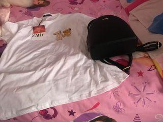 Vendo Camiseta Manga Corta Zara y Mochila Negra