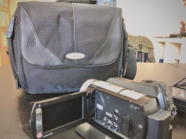 Camara de video sony Full HD + Bolsa Samsonite