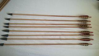 Flechas de madera.