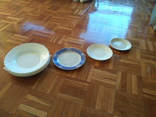 5 PLATOS ARCOPAL BLANCOS HONDOS+3 REGALO