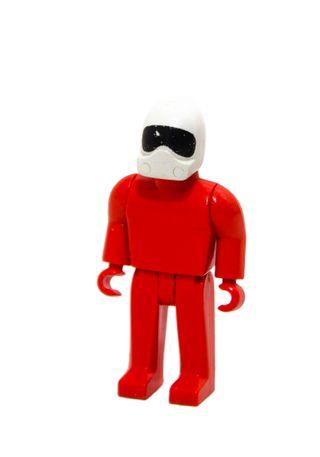 Exin Tente figura Robot Astro rojo y casco blanco