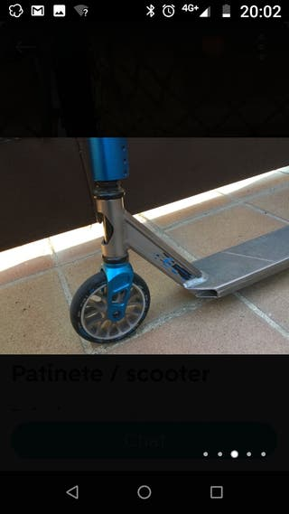Patinete scooter.