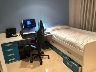 Dormitorio juvenil compacto.