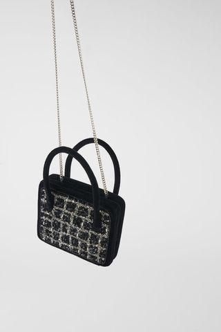 Bolso joya Zara Blue Collection nuevo