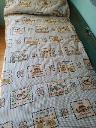 Edredón infantil ajustable cama de 90 cms