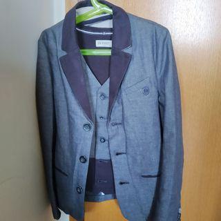 chaqueta y chaleco traje niño talla 10