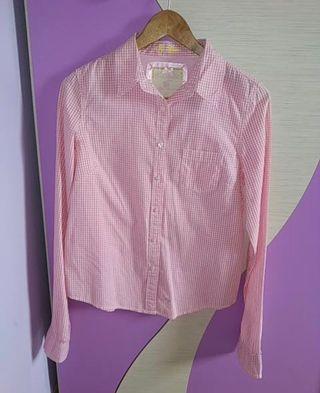 Camisa cuadro rosa Green Coast