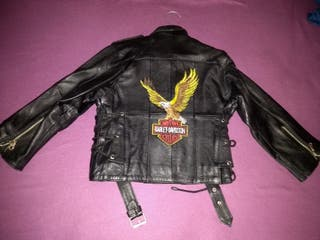 Chaqueta niño piel Harley Davidson
