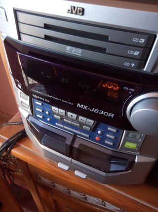 JVC MX-J530R - Sólo funciona AUX por RCA y Radio