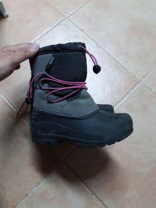 botas niña nieve