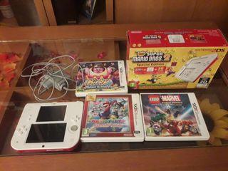 Nintendo 2ds + 3 juegos