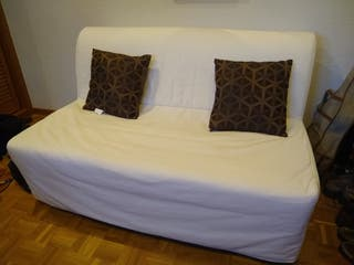 FUTÓN sofá cama dos plazas, blanco