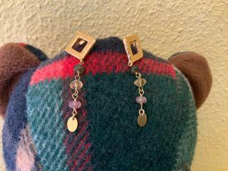 Pendientes Tous oro amarillo 18 k y gemas colores