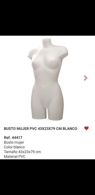 Busto de maniquí de mujer
