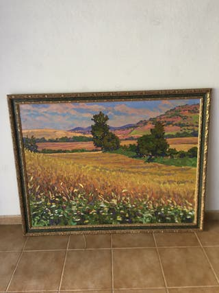 Cuadro pintado al óleo paisaje