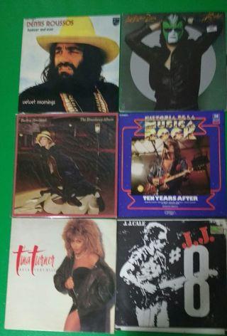 Discos de vinilo de diferentes estilos