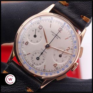 UNIVERSAL GENEVE Compax Chronograph Oro 18k