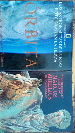 Libros Órbita National Geographic y Marco Aurelio