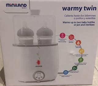 Calienta biberones/estirilizador doble Warmy Twin
