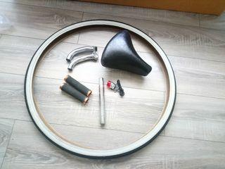 sillin GALLET + tija 23mm + puños + cuernos + luz