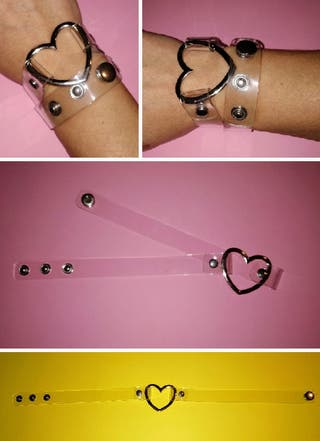 Tiara/pulsera. Transparente