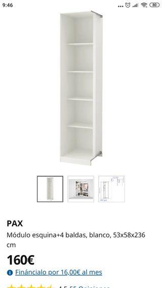 armario PAX esquinero