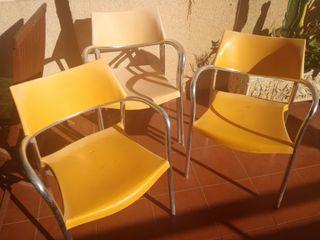 4 sillas para terraza ,casa de campo ..