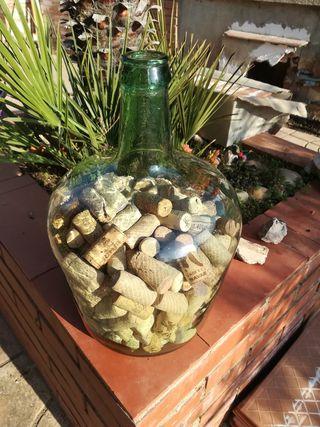 botella de cristal de las antiguas