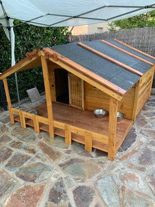 casa caseta madera perro mascota grandes gigantes
